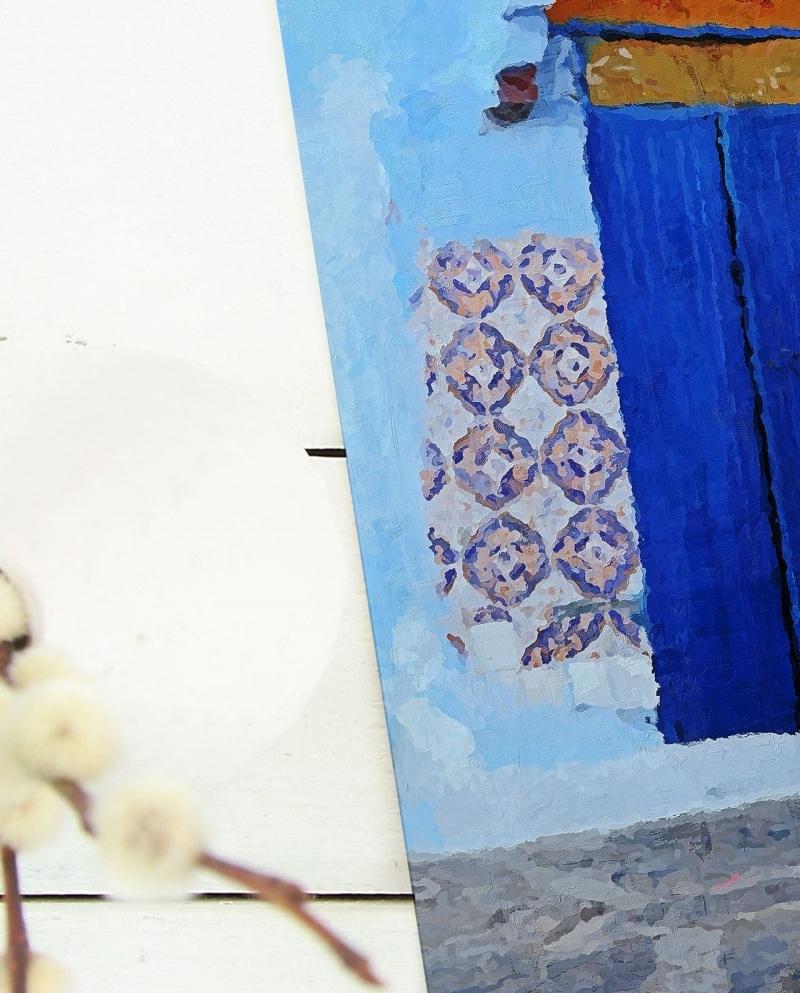 Wall Art Shopowner in Chefchaouen