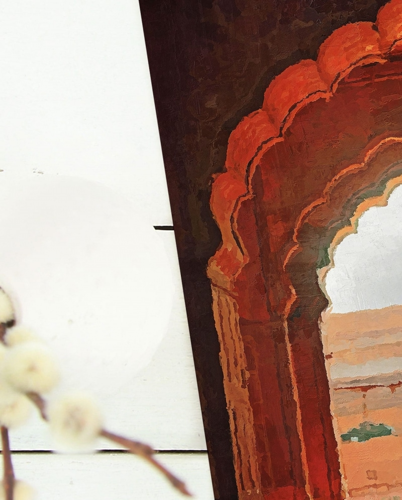 Wall Art Praying in the Jama Masjid