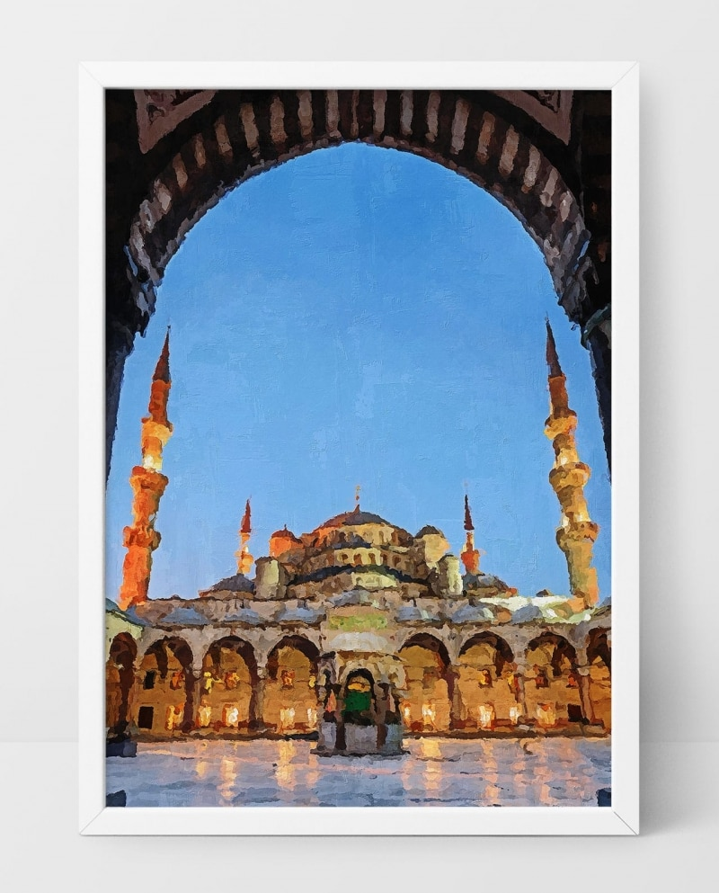 Wall Art The Blue Mosque of Istanbul at Night
