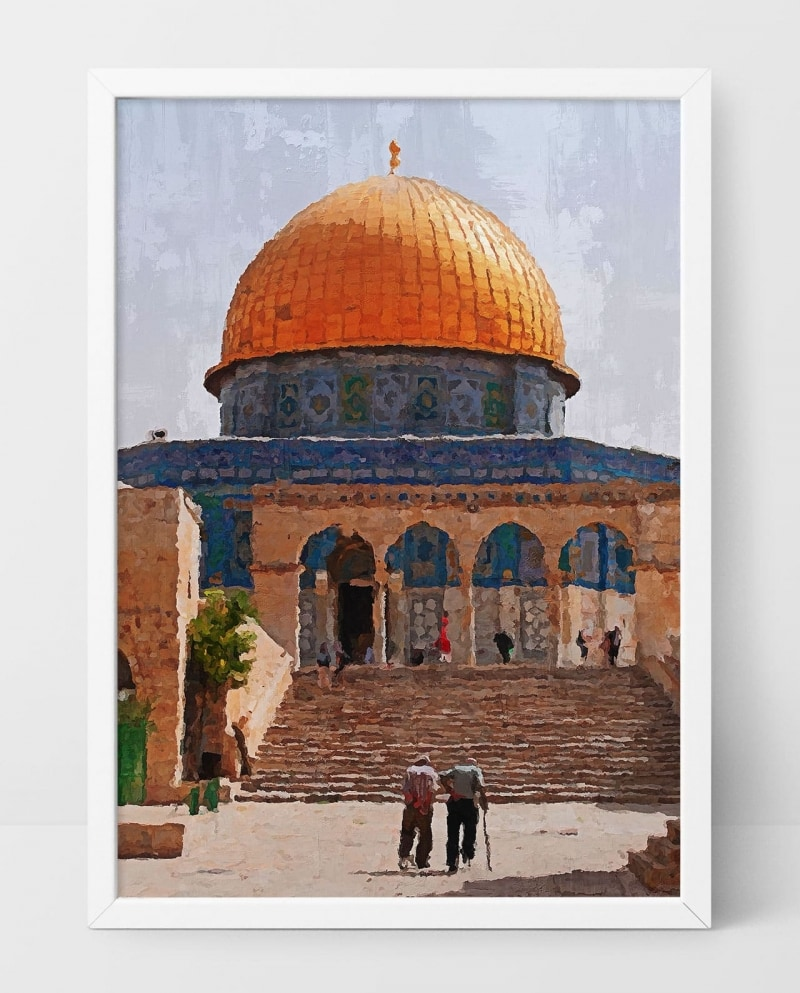 Wall Art Attending Prayer at The Dome of The Rock