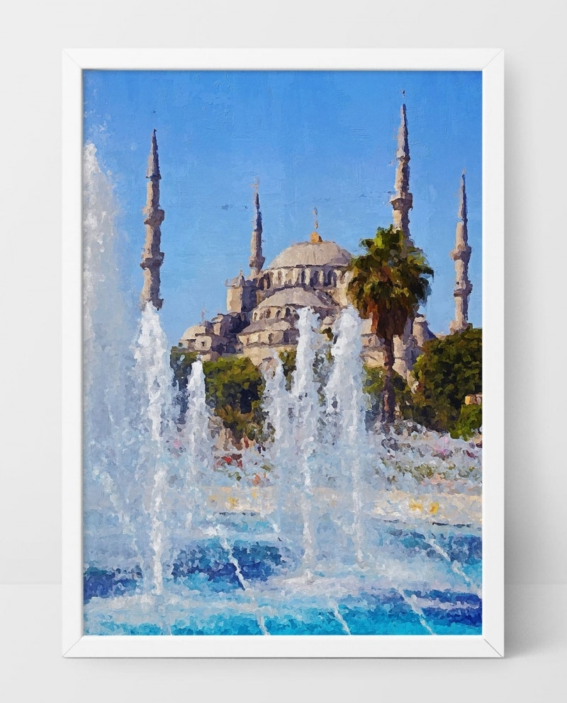 Wall Art The Blue Mosque of Istanbul