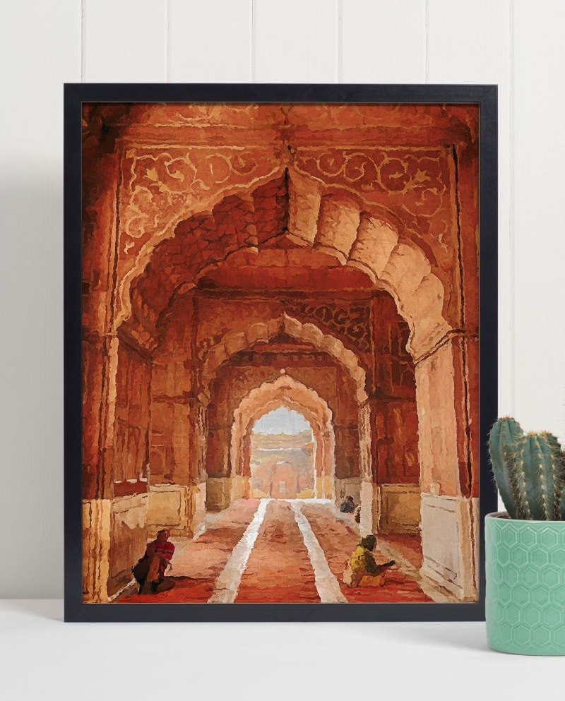 Wall Art Arches of the Jama Masjid