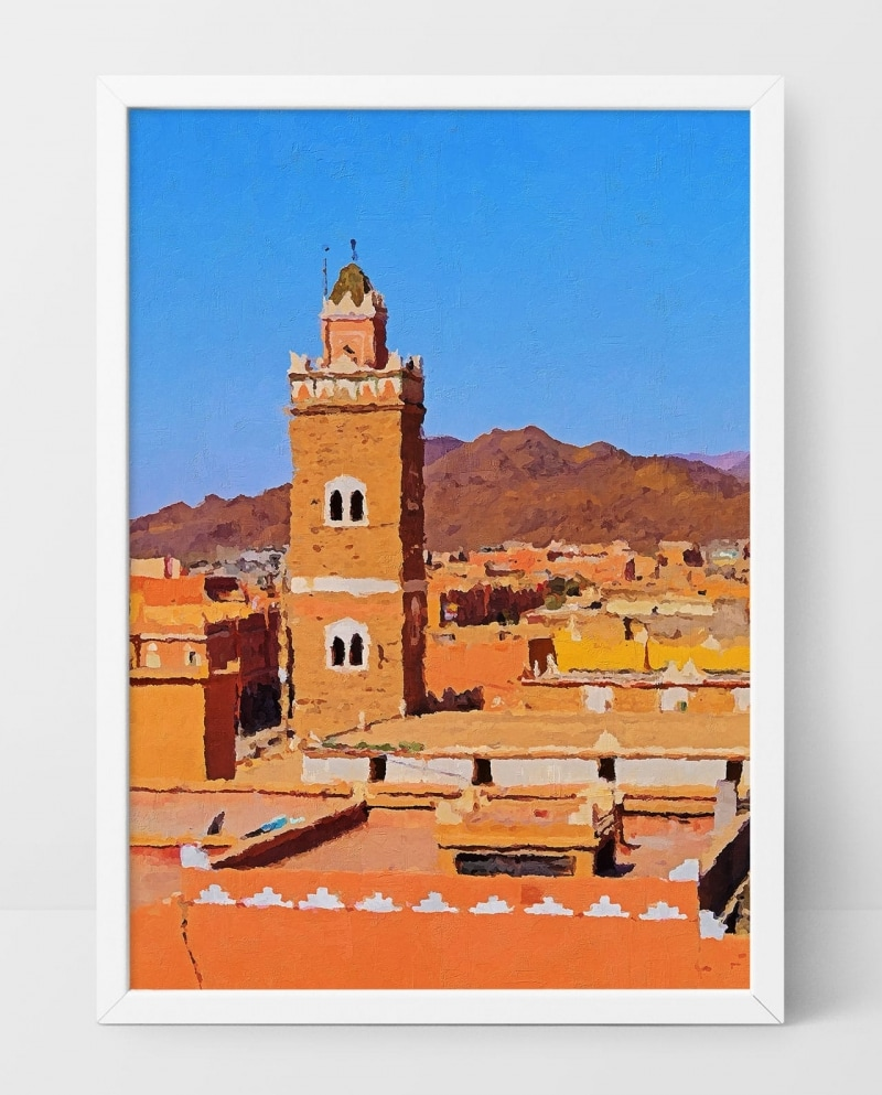 Wall Art Rooftops of Morocco