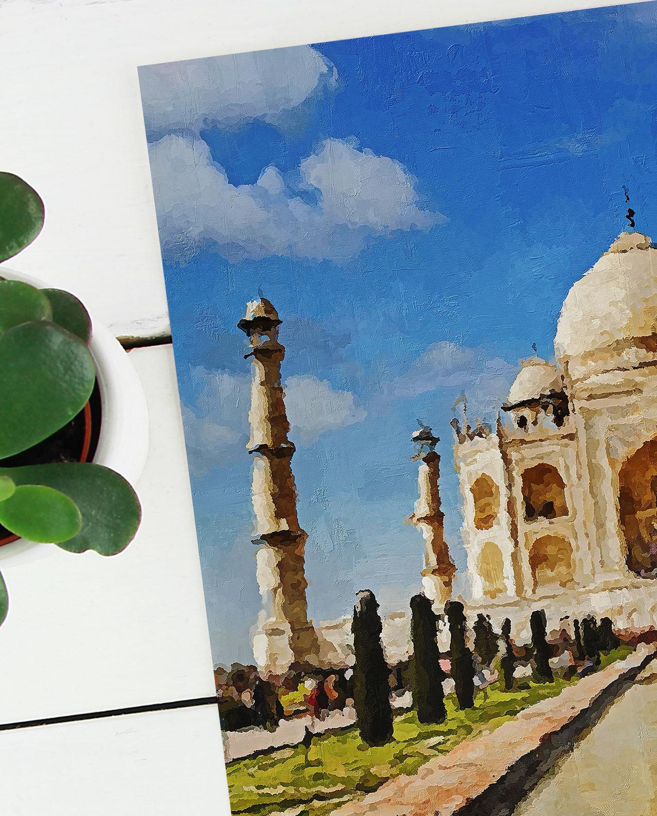 Wall Art Taj Mahal
