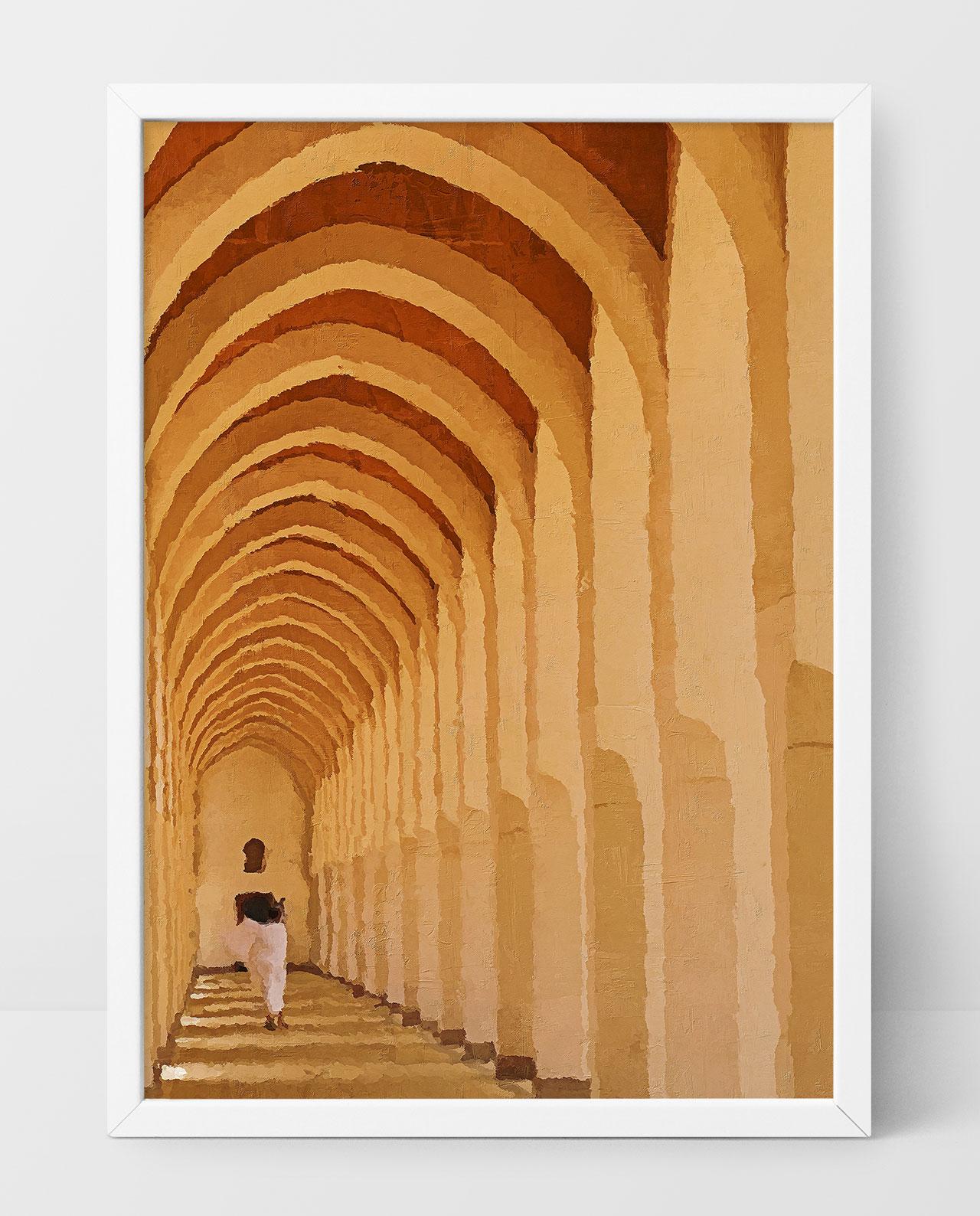 Wall Art Al-Masjid an-Nabawi corridor